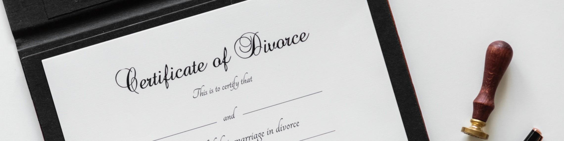 Certificate of Divorce image